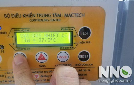 Hướng dẫn cách cài nhiệt độ trên máy ấp trứng công nghiệp Mactech