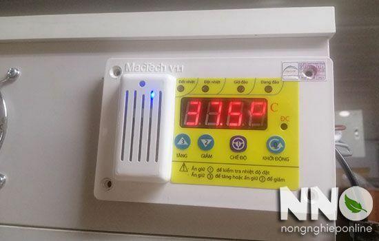 Hướng dẫn cài nhiệt độ trên máy ấp trứng mini Mactech